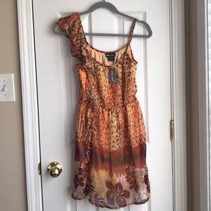 Animal Print XS Wet Seal One Shoulder Dress